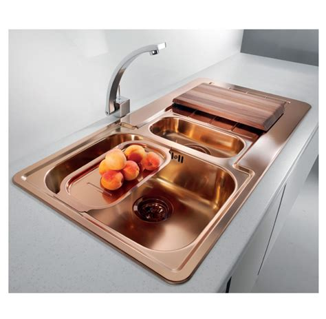 kitchen taps and sinks luxurious and modern copper kitchen sinks