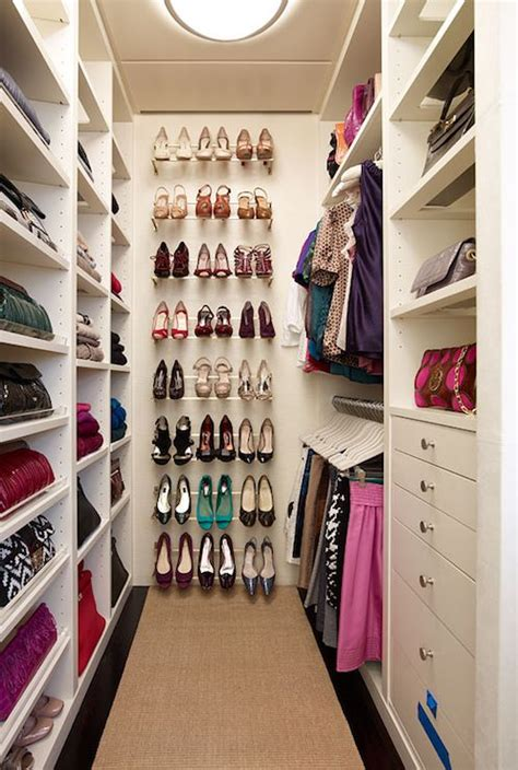 walk in closet shoe storage our master closet is and narrow this would be an