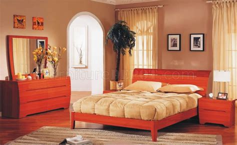 two tone bedroom furniture two tone cherry finish modern bedroom set