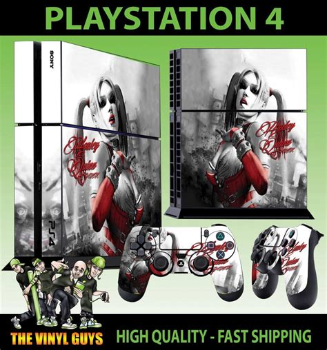 ps4 themes harley quinn ps4 playstation 4 console sticker harley quinn arkham