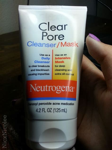 Clear Pore neutrogena clear pore cleanser mask reviews photos