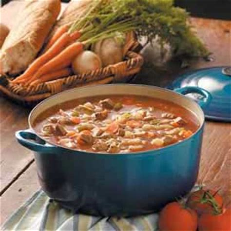 hearty beef soup recipe taste of home