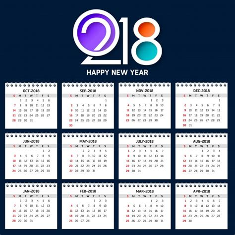 2018 calendar vectors photos and psd files free