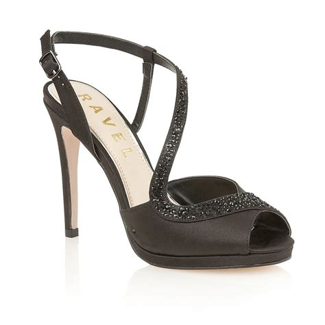 satin sandals buy ravel fulton heeled sandals in black satin