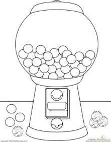 color gumball machine worksheet education
