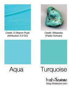 aquamarine color chip sample swatch palette