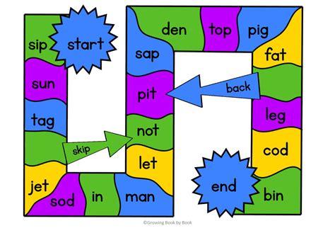 printable word ending games 3 free printable cvc word games