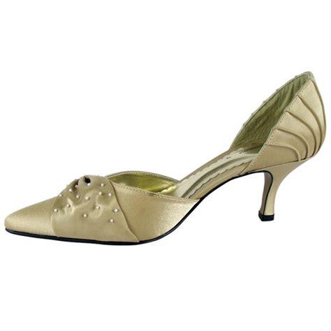 bronze satin bead bridal prom shoes size 8 ebay