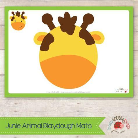 printable animal playdough mats giraffe playdough mat from jungle animal playdough mats