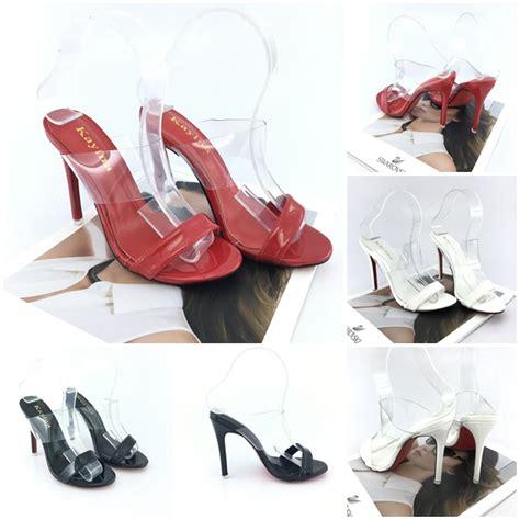Jaket Transparan Nomor shh98271 sepatu heels transparan cantik 10cm ratu jahit