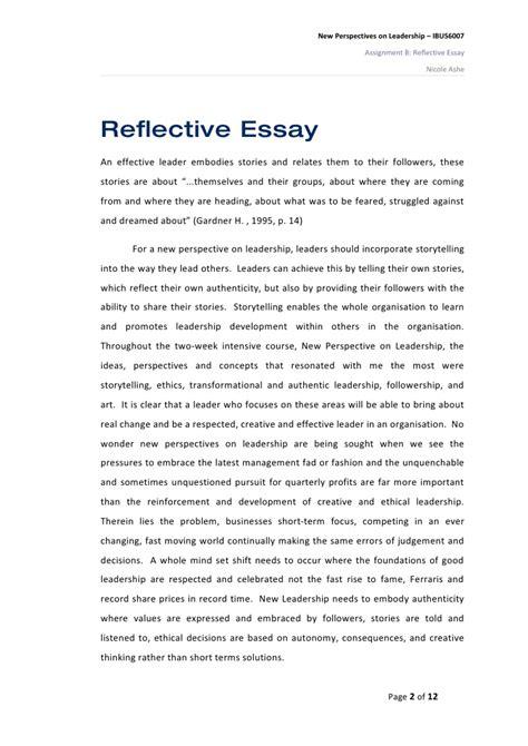 samples of reflective essay reflective essay samples self reflection