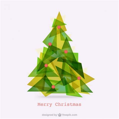abstract polygonal christmas tree vector free download