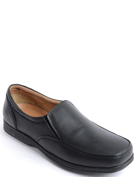 running room shoe fitting real leather elastic gusset wide fitting shoe menswear