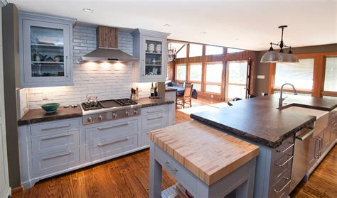 Grey Shaker Cabinetry   Craftsman   Kitchen   other metro