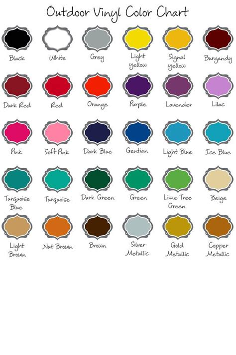 Sticker Oracal 651 Gloss expressions vinyl outdoor vinyl color chart cricut favorites colour chart