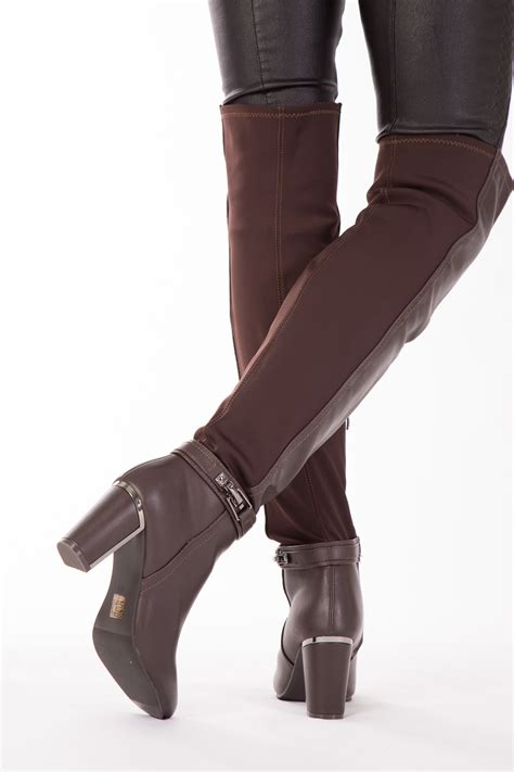 high heel boots size 3 womens the knee brown boots shoes high heel