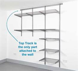 wall hung shelving systems wall mounted shelving systems for garage ideas home