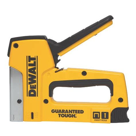 Electric Upholstery Stapler Reviews by Dewalt Dwhttr350 Aluminum Stapler Review Staple Gun Reviews
