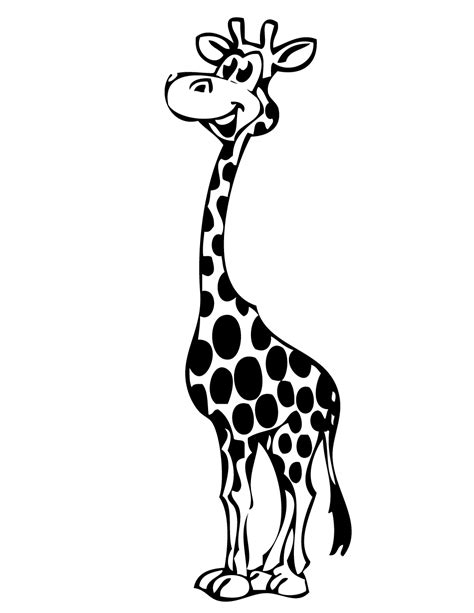 coloring pages of cartoon giraffes standing giraffe coloring page h m coloring pages