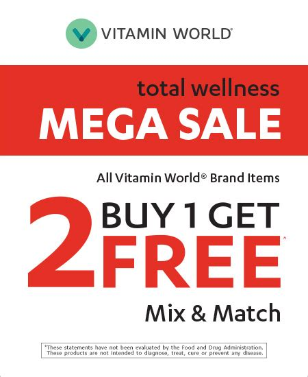 Mix Match On Sale by Vitamin World Mix Match Mega Sale Power Square Mall