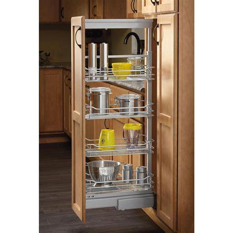 pull out pantry shelves home depot rev a shelf 58 in h x 20 62 in w x 20 in d chrome 5
