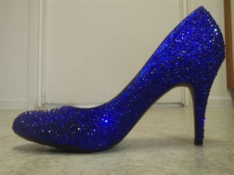blue sparkly shoes for sparkly sapphire cobalt blue heels weddingbee