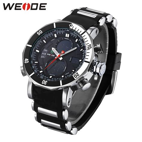 Jam Tangan Wanita Digitec Original Dual Time Black Green Tahan Air weide jam tangan analog pria dual time zone silicone wh5203 black white