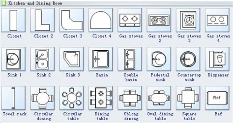 kitchen symbols for floor plans outline vector simple furniture plan floor stock vector