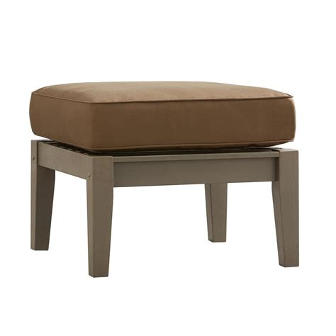 cushion ottoman coffee table brown vineyard patio ottoman coffee table with