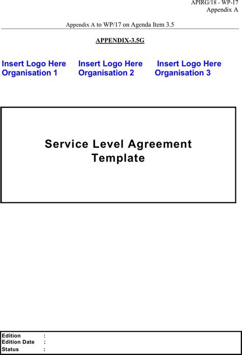 free service level agreement template service level agreement free premium
