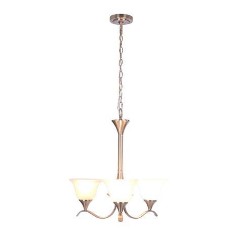 chandelier l shades home depot hton bay santa rita 3 light brushed nickel chandelier