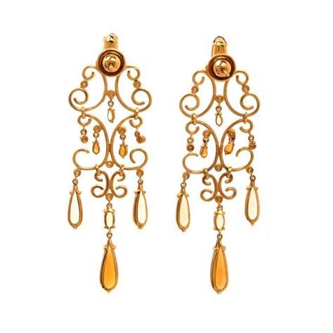 Citrine Chandelier Earrings citrine gold chandelier earrings at 1stdibs