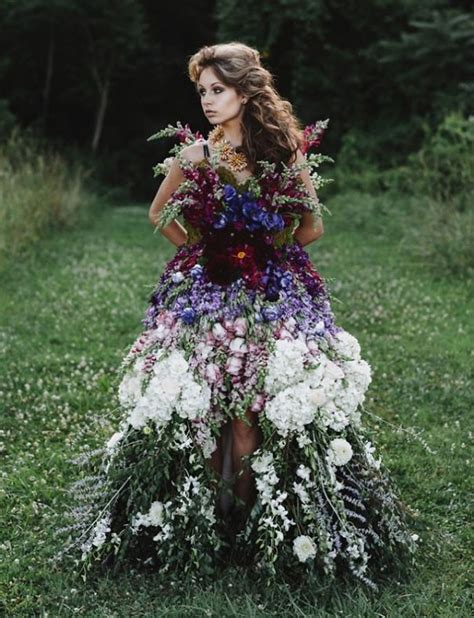 Ths Flower Dress floral haute couture the dress made of flowers bored panda