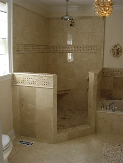 custom walk in showers custom marble walk in shower and floor