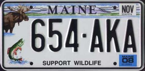Maine State Vanity Plates by Maine