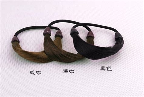 acridium capronyl hair extensions on rubber bands faux hair ponytail holders