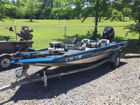 used triton bass boats for sale 2007 used triton vt17 bass boat for sale 7 590