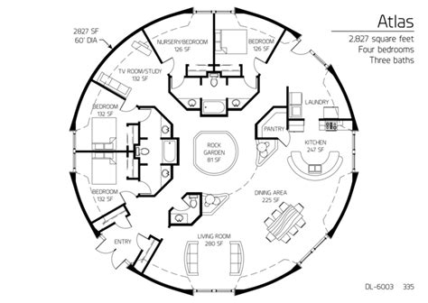 Geodome House Plans Floor Plan Dl 6003 Monolithic Dome Institute