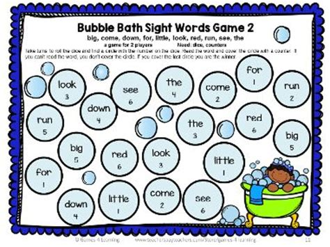 printable dolch word list games dolch sight words games pre primer list sight word games