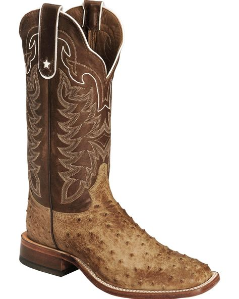 ostrich quill mens boots tony lama s quill ostrich boot square toe e9322