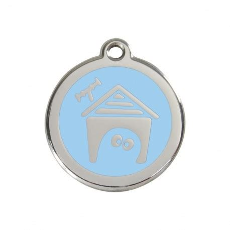 dog house light emaille medagliette per animali dog house light blue