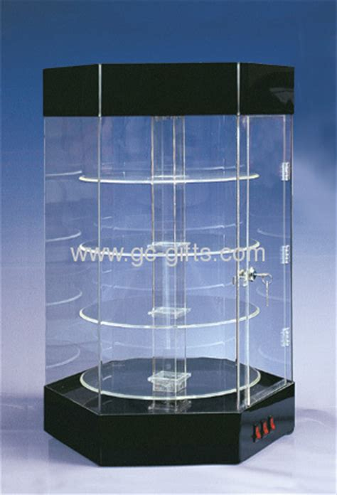 Floor square acrylic display cabinets with trundles from