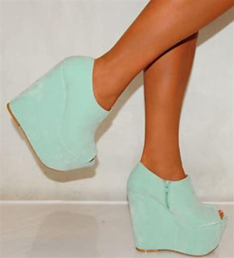 Wedges Pastel Series shoes shoes heels wedges mint blue pastel wheretoget