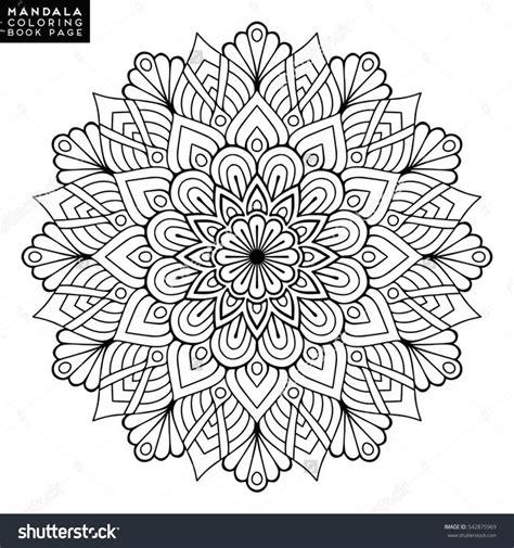 13906275 vector of islamic flower pattern on white stock flower mandalas vintage mandalas elements mandala
