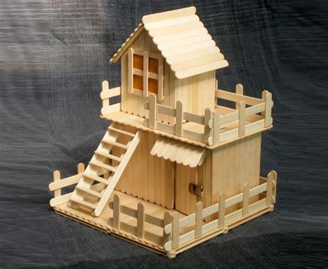 membuat rumah hamster dari stik es krim ide unik membuat rumah mainan dari stik es krim ragam