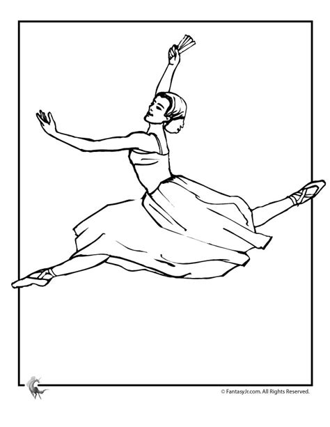Ballet Ballerina Az Coloring Pages Ballerina Colouring Page