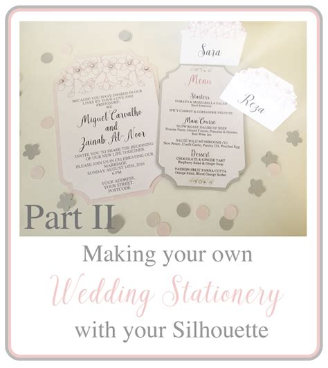 your own wedding invitations uk silhouette uk your own wedding stationery part 2