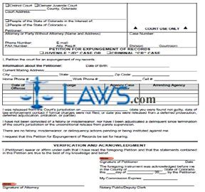Md Search Expungement Petition For Expungement Of Records Colorado Forms Laws