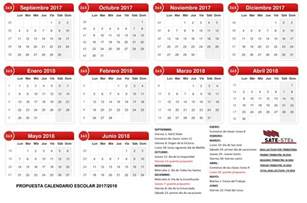 Calendario 2017 Y 2018 Propuesta De Calendario Escolar 2017 2018 Sate Stes