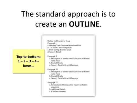 How To Make A Paper Outline - the standard approach is to